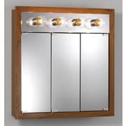 Jensen 30'' x 30'' Surface Mount Medicine Cabinet; Honey Oak