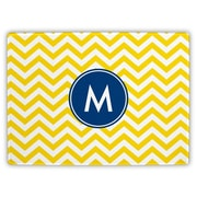 Boatman Geller Chevron Single Initial Cutting Board; T