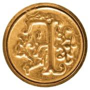 Manuscript Initial Ceramic Mini Wax Seal; F