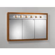 Jensen 48'' x 30'' Surface Mount Medicine Cabinet; Honey Oak
