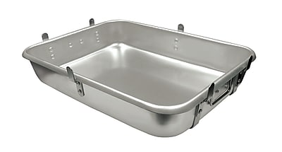 Update International 24'' Aluminum Strapped Roasting Pan w/ Lugs WYF078278108484