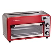 Hamilton Beach Toastation Combination Toaster & Toaster Oven; Red