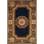 Momeni Harmony Hand-Tufted Black/Gold Area Rug; Round 7'9''
