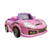 Best Ride On Cars 6V Battery Powered Sports Car with Big Battery Motor; Pink