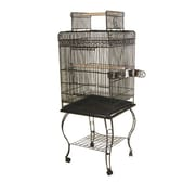 A&E Cage Co. Economy Play Top Cage; White