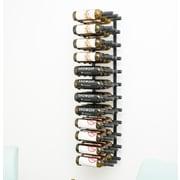 VintageView 36 Bottle Wall Mounted Wine Rack; Satin Black
