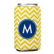 Boatman Geller Chevron Single Initial Can Koozie; F