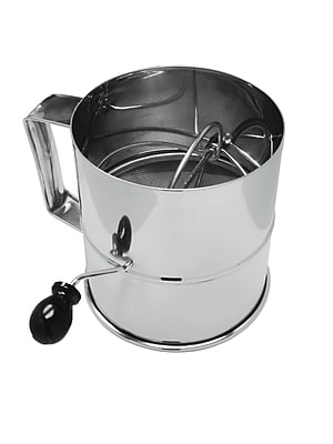 Update International Rotary 8 Cup Stainless Steel Flour Sifter WYF078278109296