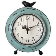 Ashton Sutton Metal Case Table Clock
