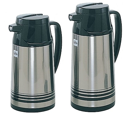 Update International 1.0 Liter Stainless Steal Body Glass Lined Vacuum Jug WYF078278107646