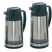 Update International 1.0 Liter Stainless Steal Body Glass Lined Vacuum Jug