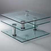 Creative Images International Motion Glass Coffee Table
