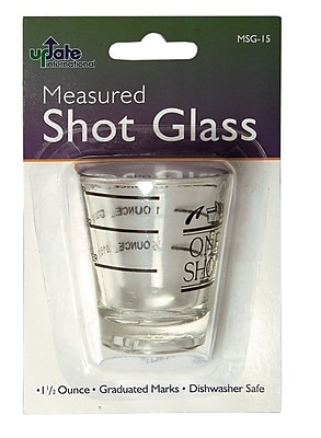 Update International 1.5 Oz. Measuring Shot Glass WYF078278108676
