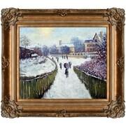 Tori Home Boulevard Saint-Denis Argenteuil in Winter by Claude Monet Framed Painting Print; Bronze