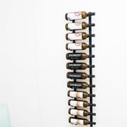 VintageView Wall Series 12 Bottle Wall Mounted Wine Rack; Satin Black