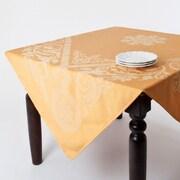 Saro Jacquard Tablecloth; Yellow