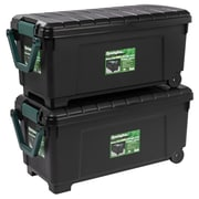 Remington 42 Gallon Heavy Duty Storage Trunk w/ Wheels (Set of 2)