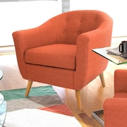 LumiSource Rockwell Arm Chair; Orange
