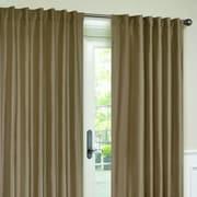 VCNY Interlined Faux Silk Rod Pocket Single Curtain Panel; Mink