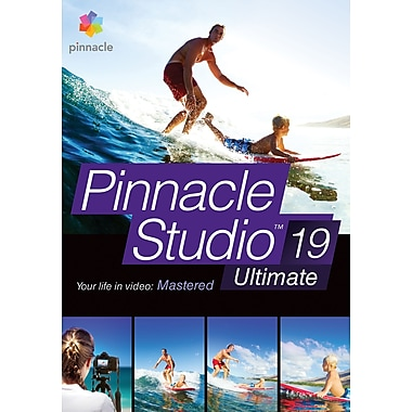 Pinnacle – Logiciel de montage vidéo Studio 19 Ultimate pour Windows, bilingue