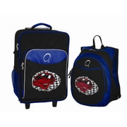 Obersee 2 Piece Racecar Kids Luggage and Backpack Set