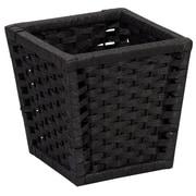 Household Essentials Wicker Waste Basket; Black
