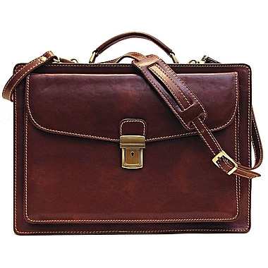 Floto Imports Corsica Leather Laptop Briefcase