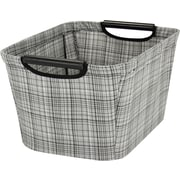 Household Essentials Tapered Storage Bin with Wood Handles; 7.5'' H x 13'' W x 10'' D