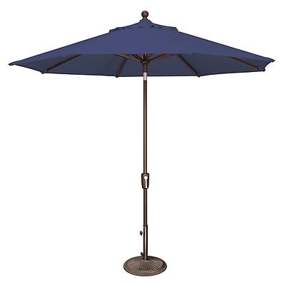 SimplyShade 9' Catalina Market Umbrella; Sunbrella / Forest Green WYF078277988331