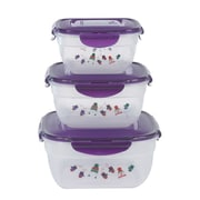 Lock & Lock 6-Piece Bowl Storage Set; Purple