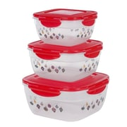 Lock & Lock 6-Piece Bowl Storage Set; Red
