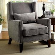 Hokku Designs Marlow Wingback Arm Chair; Gray