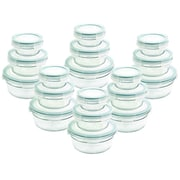 Glasslock 36 Piece Round Food Storage Container Set