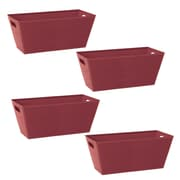 WaldImports Paperboard Tote (Set of 4); Burgundy
