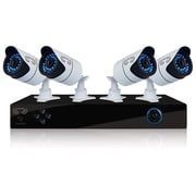 Night Owl X9-44-500 Wired 4-Channel Video Security System with Night Vision Bullet Cameras and 500GB HDD, Black