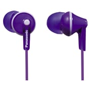 Panasonic RP-HJE125 Wired Earbud Stereo Headphones, Violet