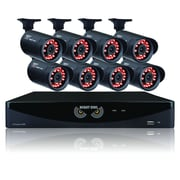 Night Owl B-F650-45-4 F- Series Wired 4-Channel Video Security System with Night Vision Bullet Cameras, Black