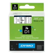 DYMO®  45800 D1 Label Tape, 3/4-Inch, Black on Clear
