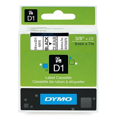 DYMO® 40910 High-Performance Permanent Self-Adhesive Polyester Label Tape is great for Label Makers, Clear