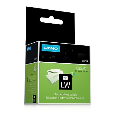 DYMO® 30254 LabelWriter Self-Adhesive Address Labels, Clear, Roll of 130