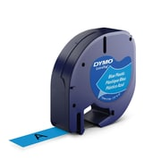 DYMO® 91335 LetraTag Plastic Label Tape Cassette, 1/2-Inch x 13 Feet, Ultra Blue