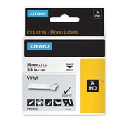 DYMO® 18445 Label Tape Industrial Cartridge, Vinyl, 3/4 inches x 18 Feet, Black/White