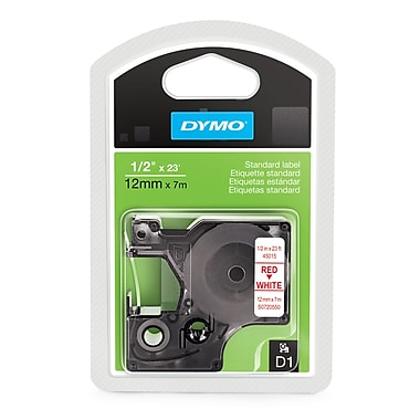 DYMO® 45015 High-Performance Permanent Self-Adhesive D1 Polyester Tape for Label Makers, 1/2