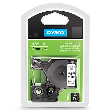 DYMO® 45013 High-Performance Permanent Self-Adhesive Polyester Label Tape is great for Label Makers, White