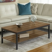 Jesper Office Parson Coffee Table with Shelf; Walnut