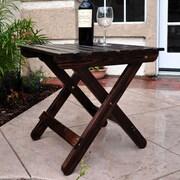 Shine Company Inc. Adirondack Folding Table; Burnt Brown