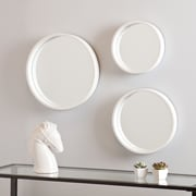 Holly & Martin Daws 3 Piece Wall Mirror Set; White