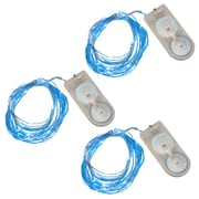 Luminarias 60 Light Battery Powered Mini LED String Light (Set of 3); Blue