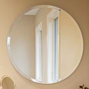 Howard Elliott Frameless Round Wall Mirror; 28'' H x 28'' W x 1'' D