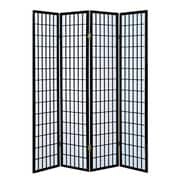 Milton Green Star Dean 70'' x 69'' 4 Panel Room Divider; Black